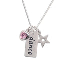 Sterling Silver Children's Dance Necklace (BCN-SS-Dance-Pink)