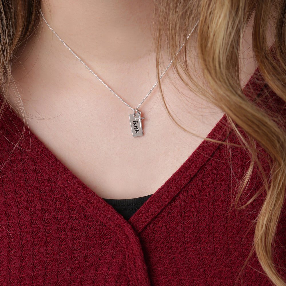 Sterling Silver Faith Cross Necklace (BCN-SS-Faith)