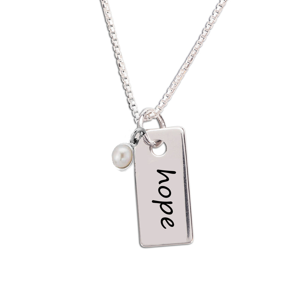 Load image into Gallery viewer, Sterling silver hope bar necklace for kids