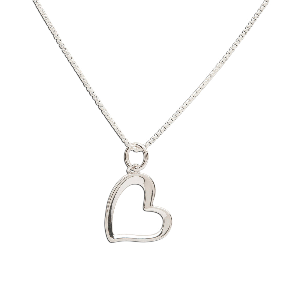 Sterling Silver Children's Sassy Heart Necklace (BCN-Sassy Heart)