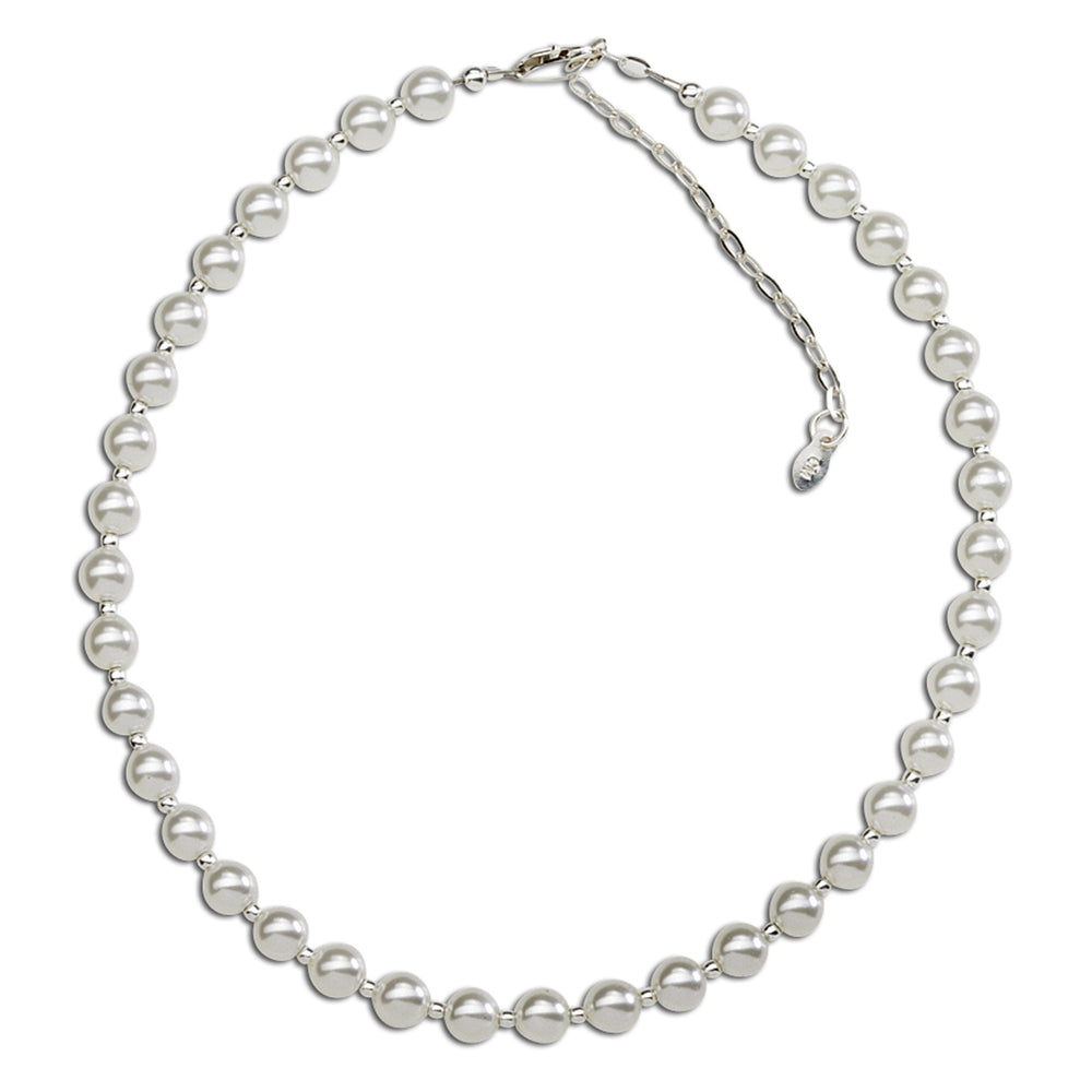Sterling Silver White Chunky Pearl Necklace (BN-Chunky Couture)