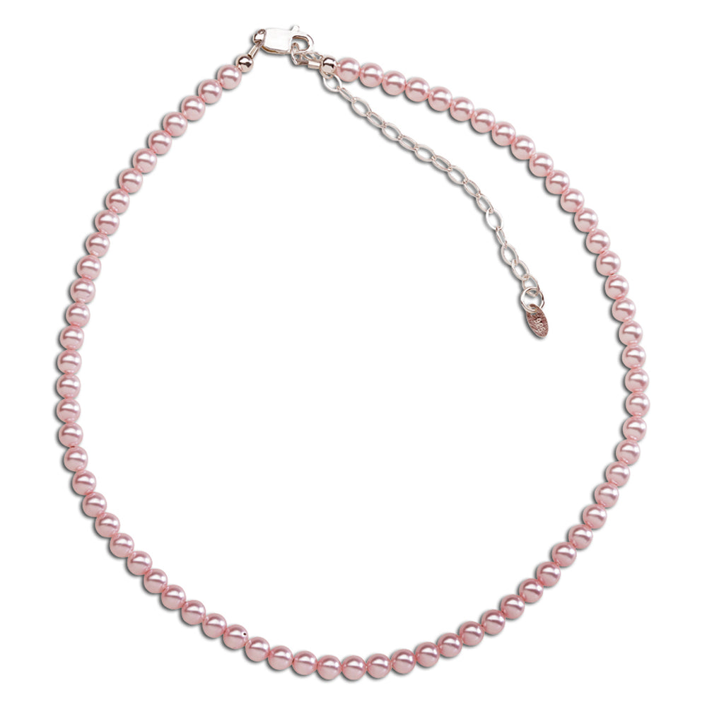 Sterling Silver Pink Pearl Necklace (BN-Jami)