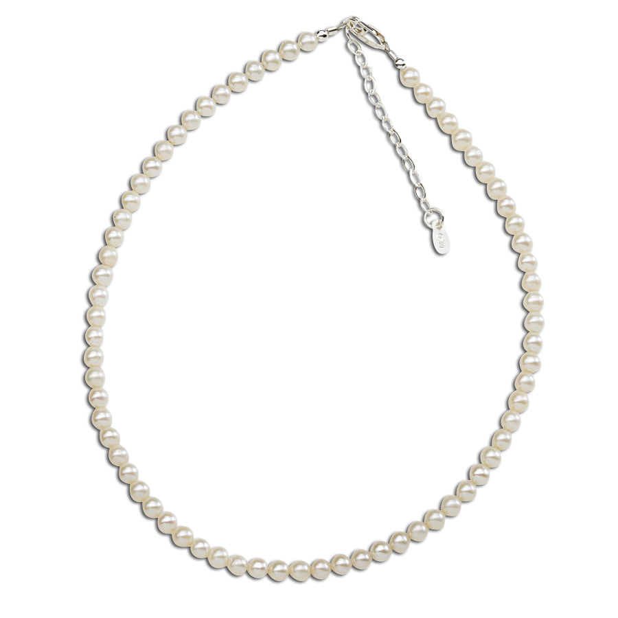 Sterling Silver Pearl Necklace (TCBN-Catherine)