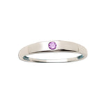 Timeless Sterling Silver Baby Ring with Amethyst (TCR-04-Amethyst)