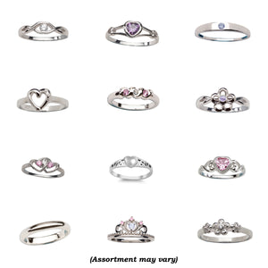 12-Piece Sterling Silver Baby Ring Assortment