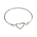 Bangle (Heart) - Sterling Silver Heart Bracelet