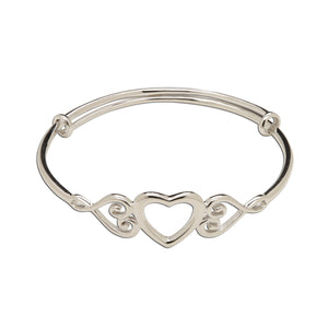 Load image into Gallery viewer, Little Girls Sterling Silver Baby Bangle Bracelet