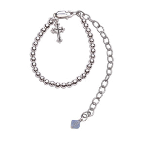 Boy's Baptism to Bride Sterling Silver Baptism Bracelet (TC-Baptism-B-Boy)