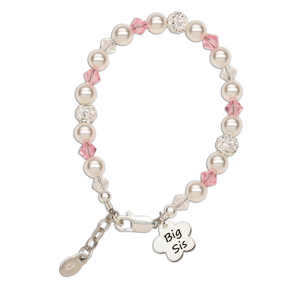 Big Sis (Flower) - Sterling Silver Big Sister Bracelet