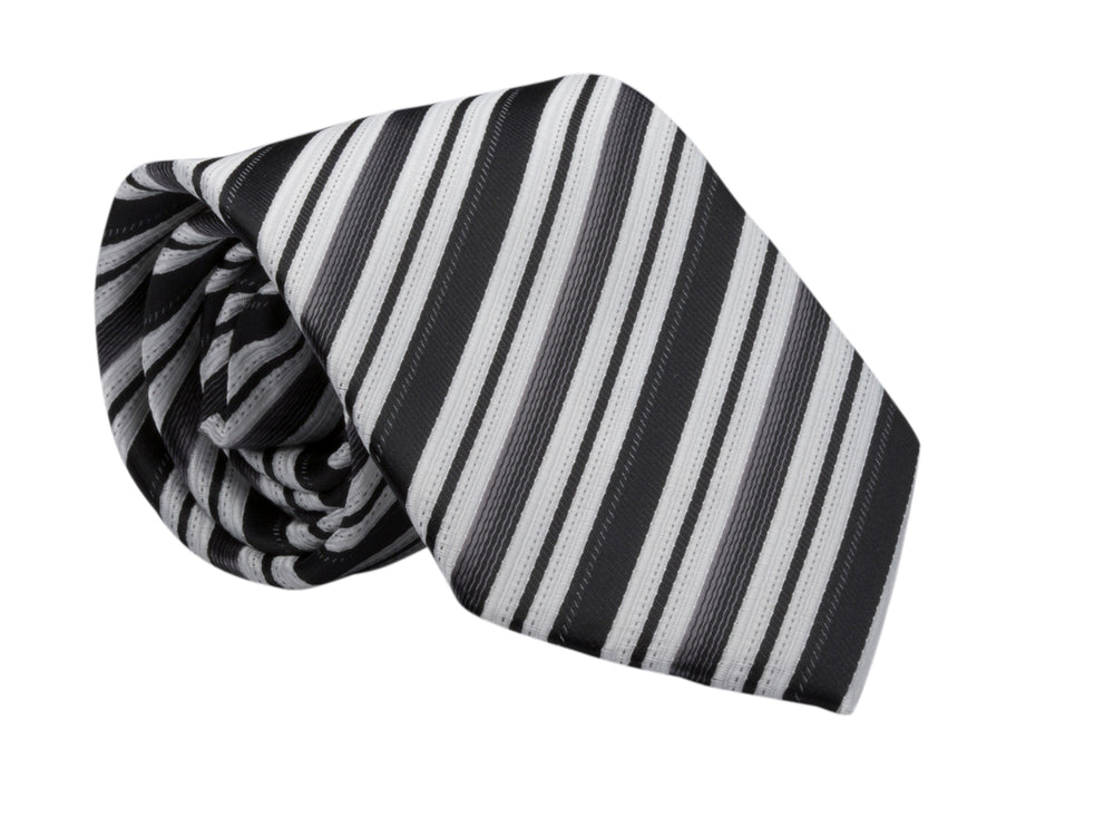 LDS Missionary Tie w/Stripling Warrior Pin (Black Stripe)