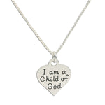 I am a Child of God Necklace with Heart (COGN-210)