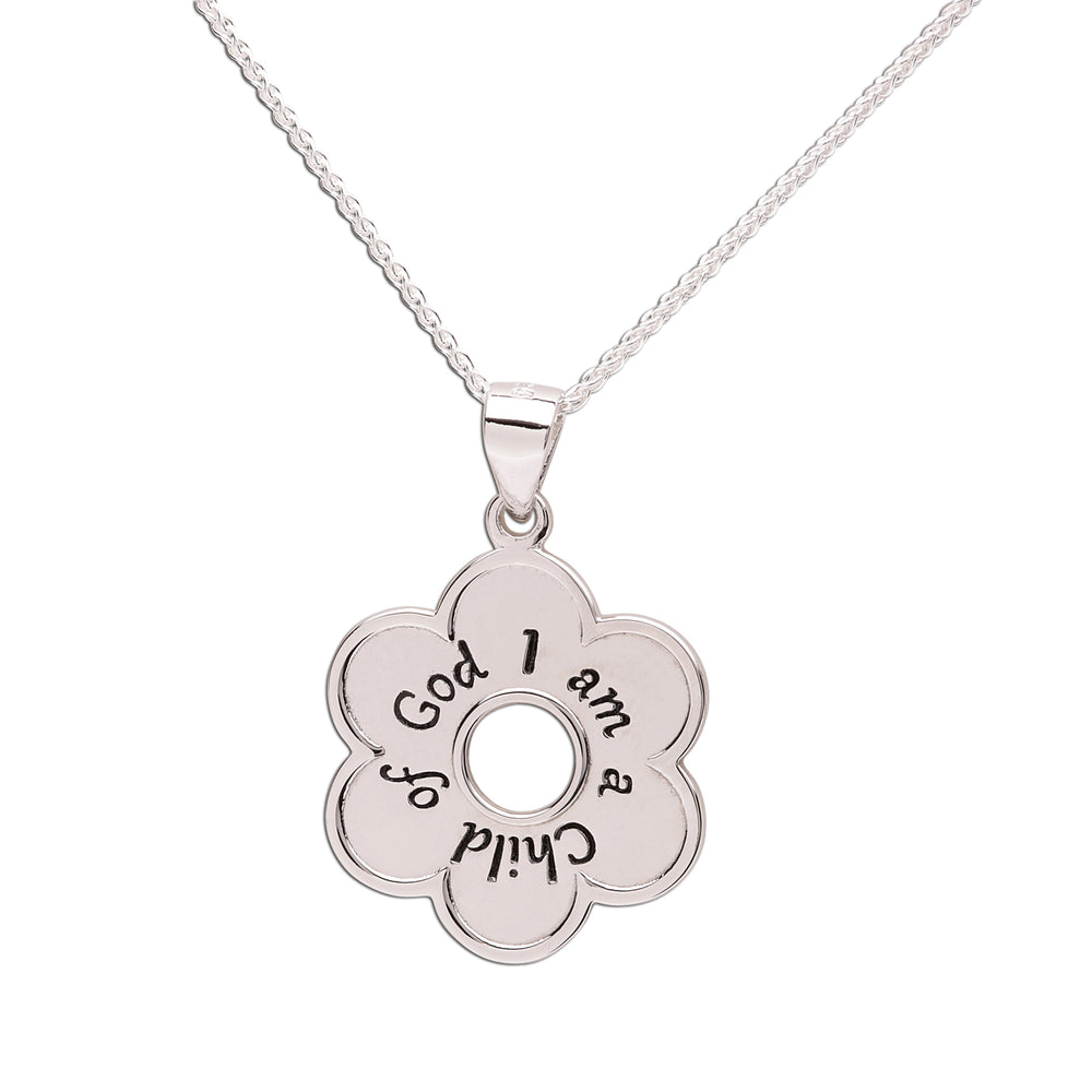 I am a Child of God Necklace with Daisy (COGN-Daisy)