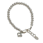 Camry - Sterling Silver Bracelet with Heart Charm