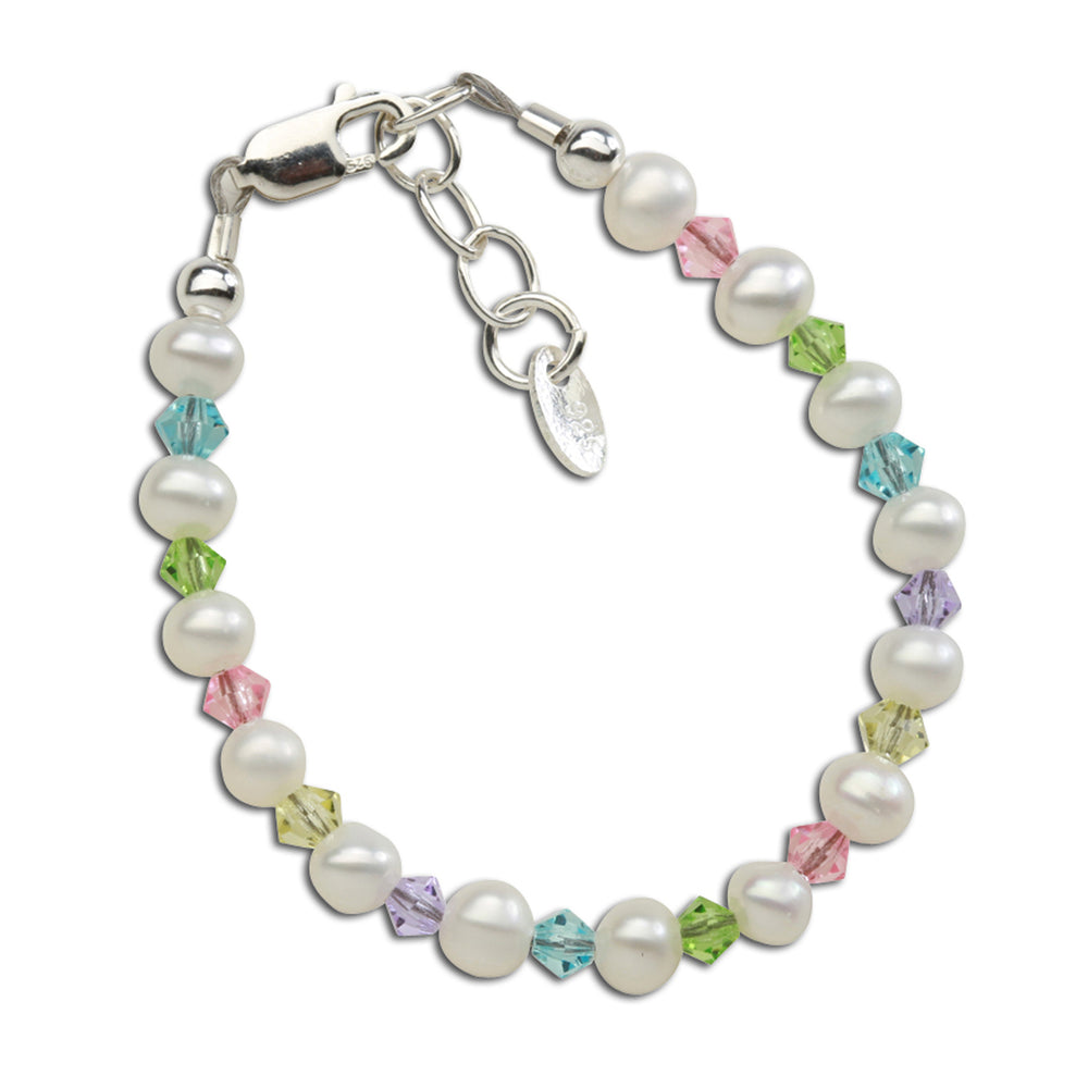Daniela - Sterling Silver Multi-color Pearl Bracelet