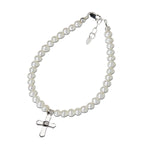 Sterling Silver First Communion Cross Bracelet (FCB-Lacey)