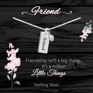 Sterling Silver Meaningful Necklace and Bracelets for Friendship Gift
