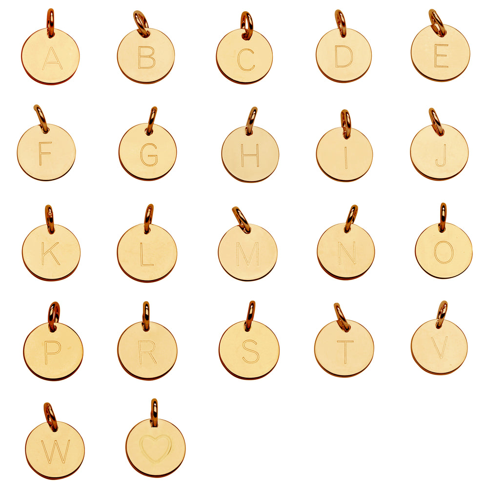 Load image into Gallery viewer, 14K Gold Initial Charms