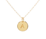 14K Gold-Plated Initial Necklace (GPBCN-Initial Coin)