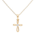14K Gold-Plated Children's Cross Necklace (GPBCN-Cross-Infinity)