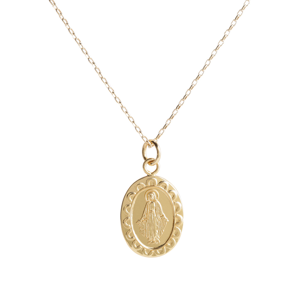 Gold-Plated First Communion Miraculous Medal Necklace