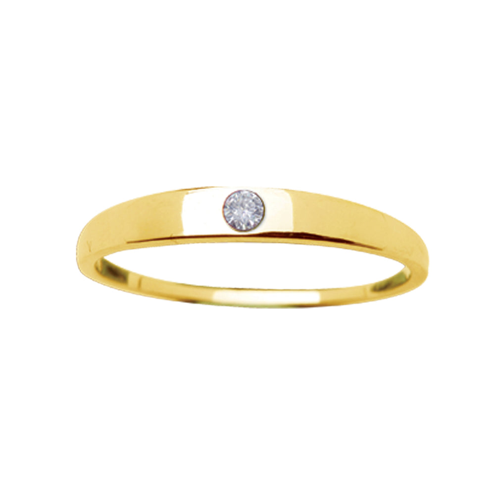 14K Gold-Plated Baby Ring with CZ (GPBR-04-Clear)