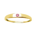 14K Gold-Plated Baby Ring with Pink CZ (GPBR-04-Pink)