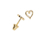 14K Gold-Plated Heart (Open) Earrings (GPE-Heart-Open)