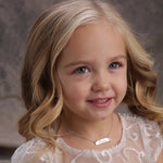 Sterling Silver Children's Bar Necklace with Pearl (BCN-HBar Pearl)