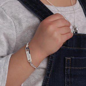 Load image into Gallery viewer, ID Bracelet (Heart) FREE Engraved - Sterling Silver I.D. Bracelet