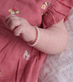 sterling silver pink pearl bracelet for kids