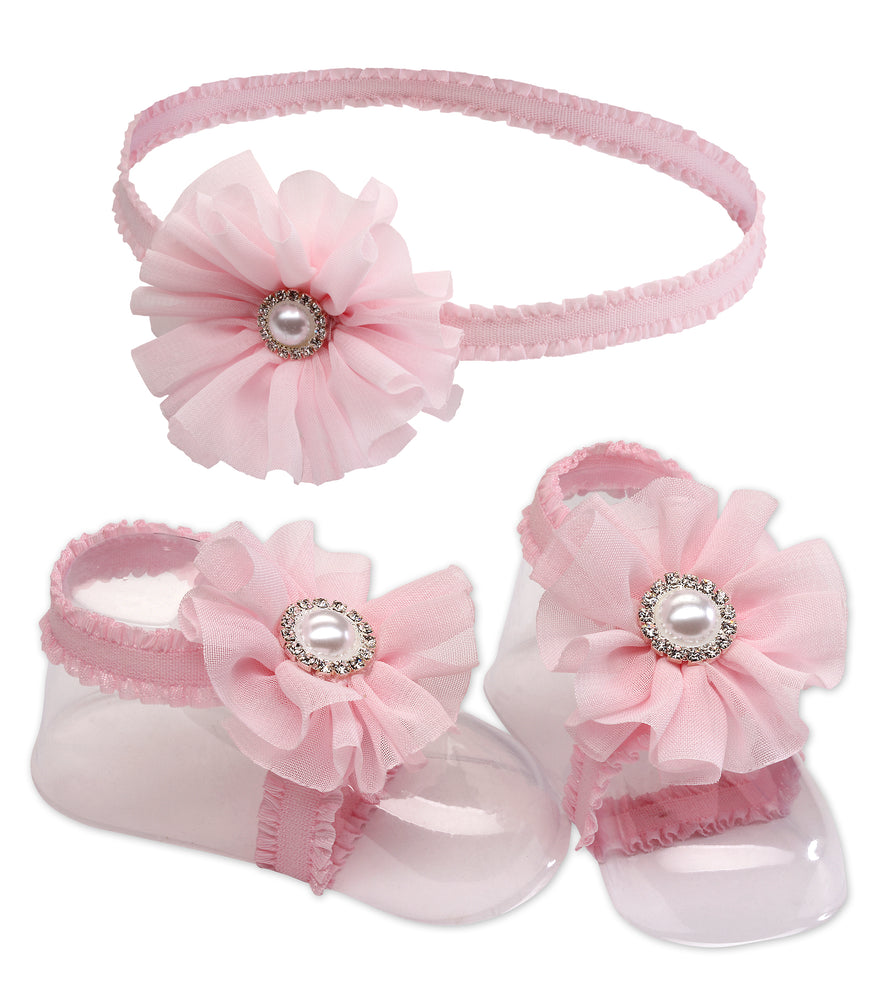 Baby Barefoot Sandal and Headband Set (KSG-121-BFS)