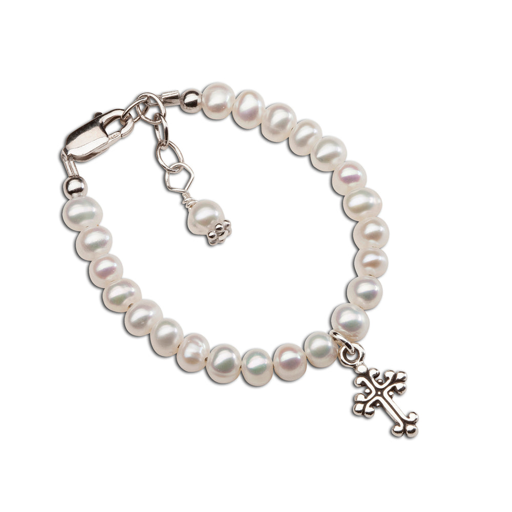 Sterling Silver Cross Bracelet (TC-Lillian)