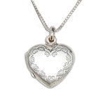 Sterling Silver Children's Heart Locket (TCN-Locket Scrolled)