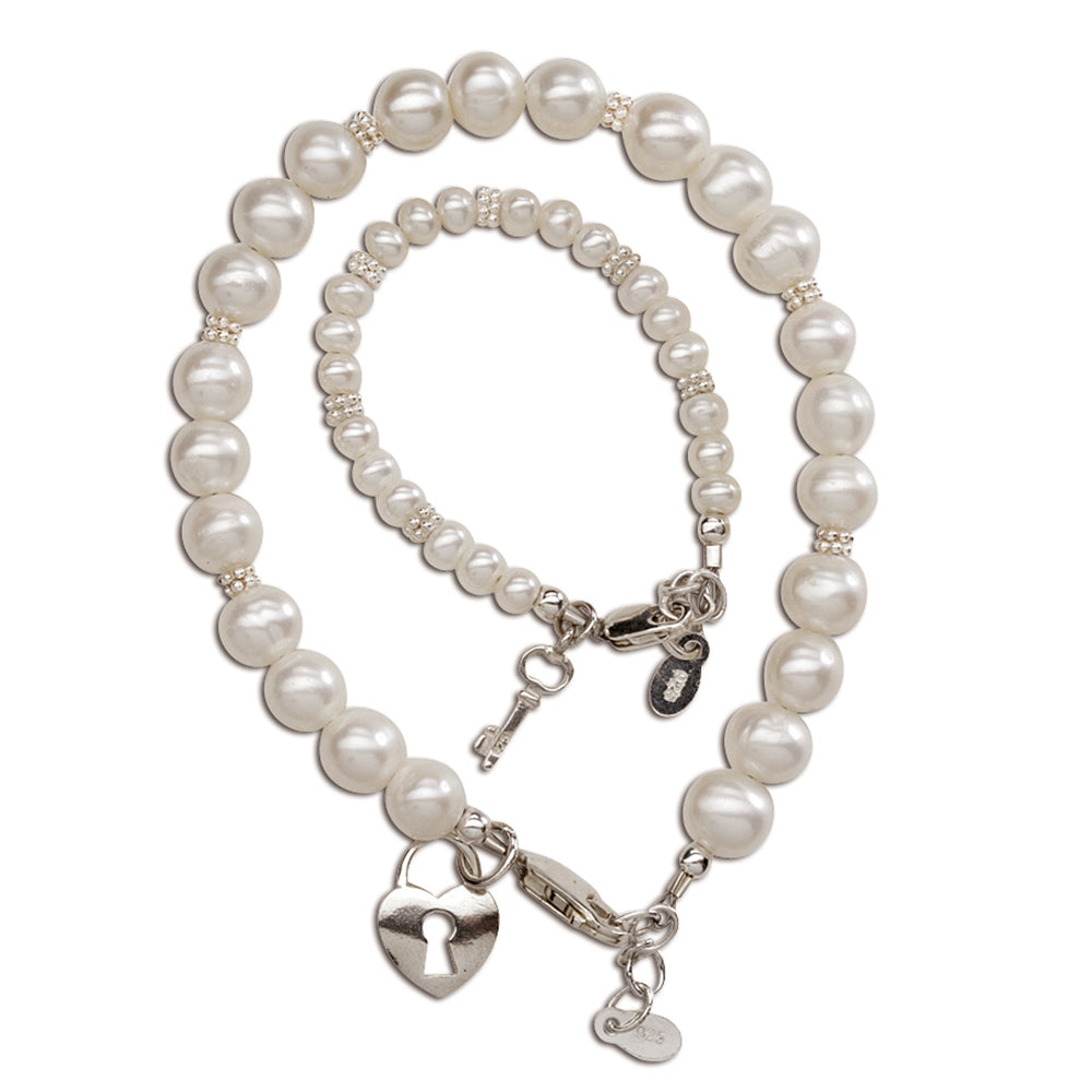 Mom and Me Bracelet Set - Key to Heart (MMK-FWP)