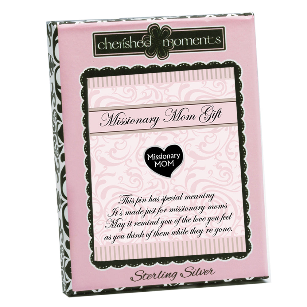 LDS Missionary Mom Heart Pin (MMP-40)