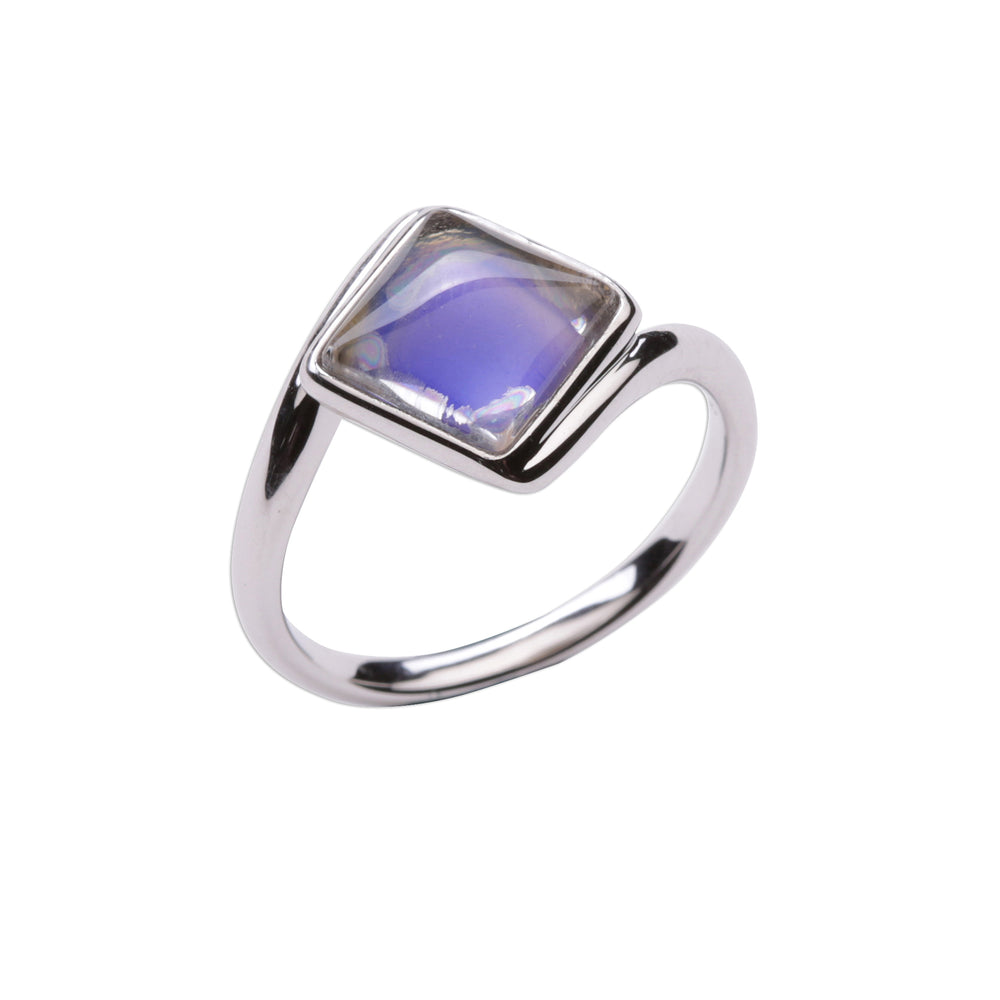 Sterling Silver Mood Ring (Square)