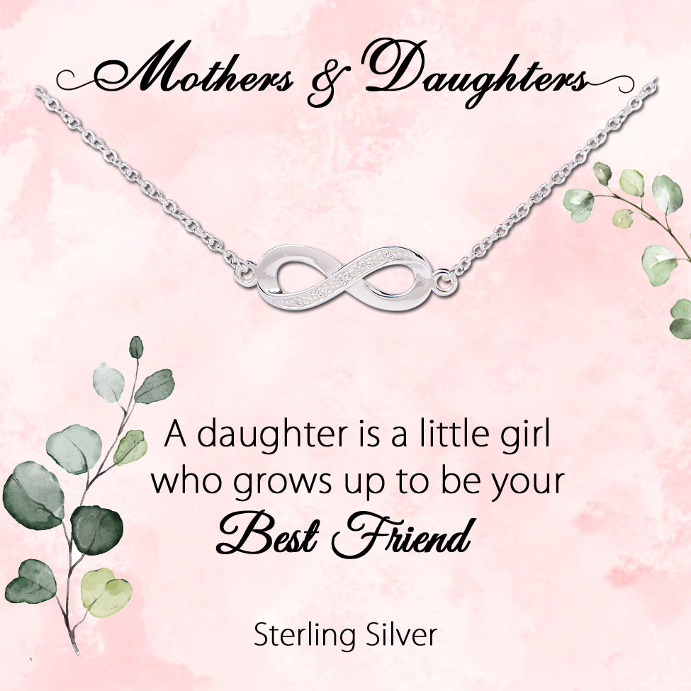 Sterling Silver Mother and Daughter Meaningful jewelry Gift