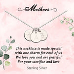 Sterling Silver Custom Initial Meaningful Necklace for Mothers and Moms