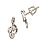 Sterling Silver Music Note Earrings (SSE-Music Note)