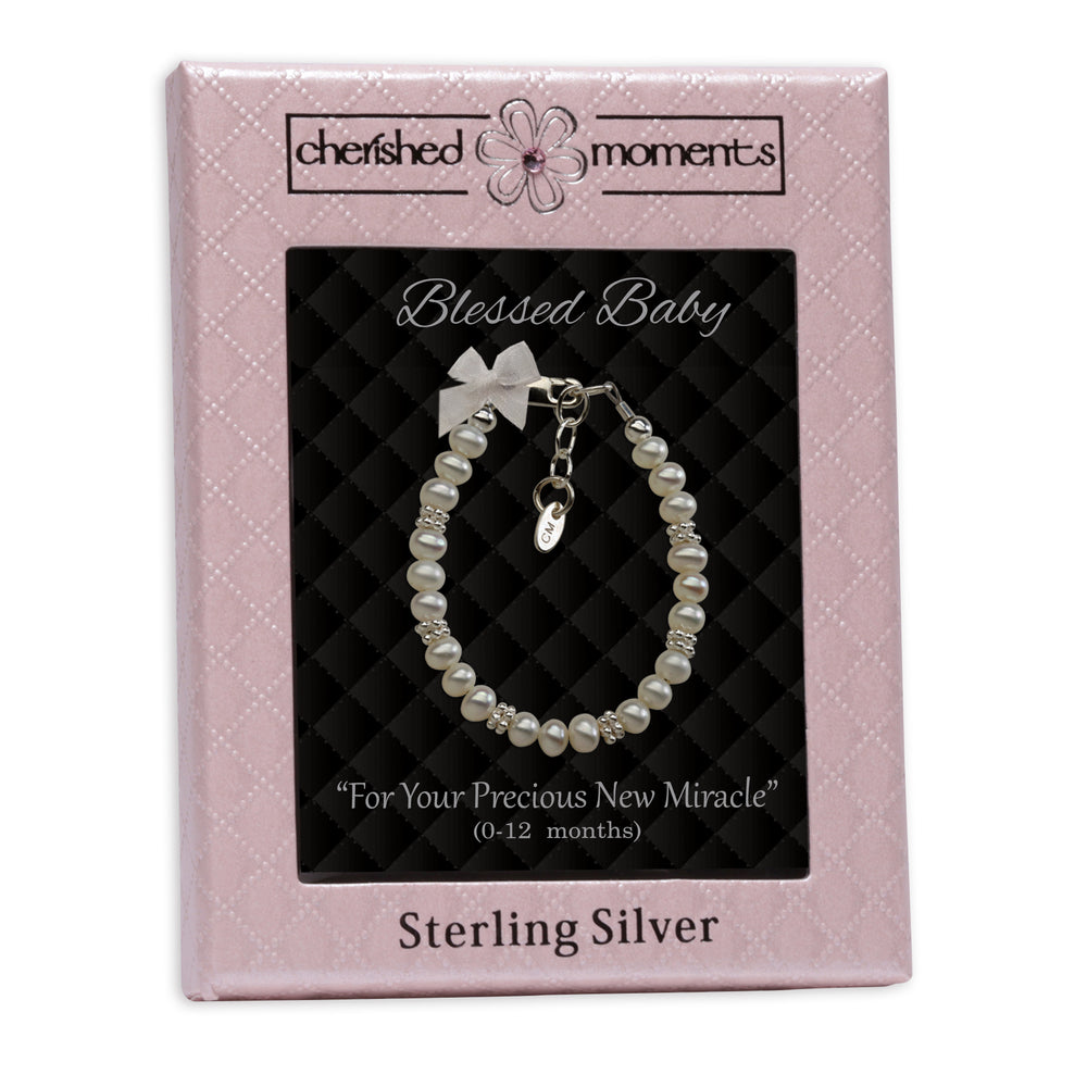 Load image into Gallery viewer, Sterling Silver New Arrival Baby Bracelet Gift (NBB-01E)