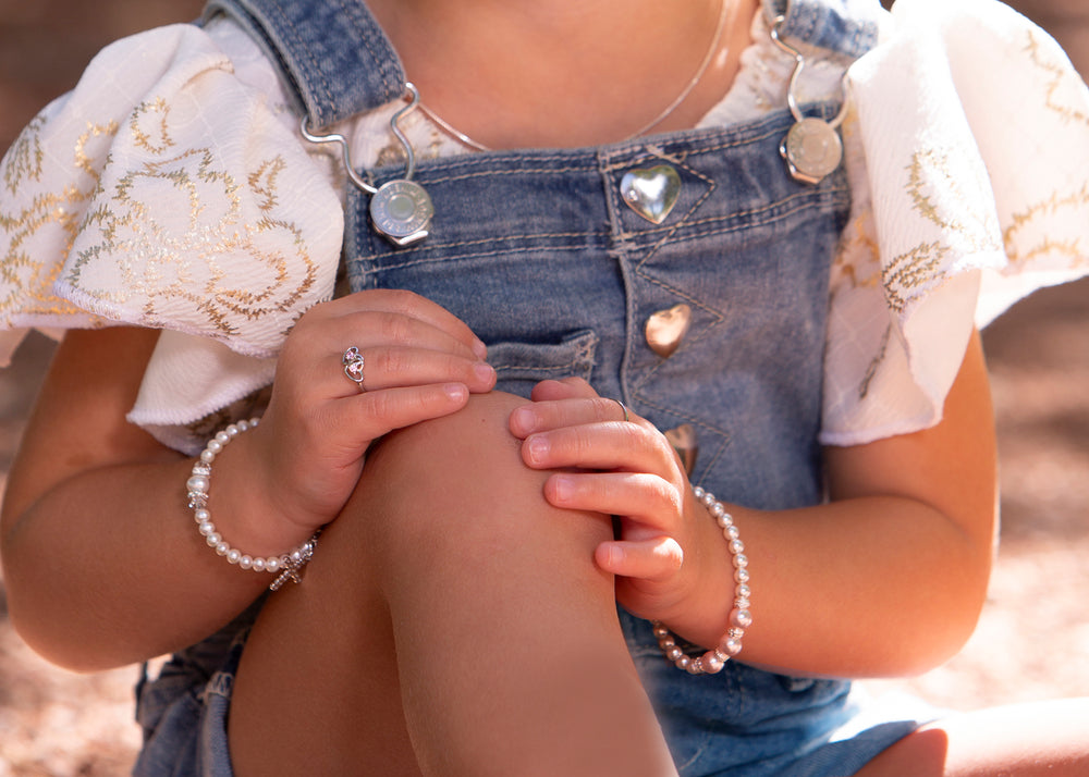 Load image into Gallery viewer, sterling silver bracelet for little girls