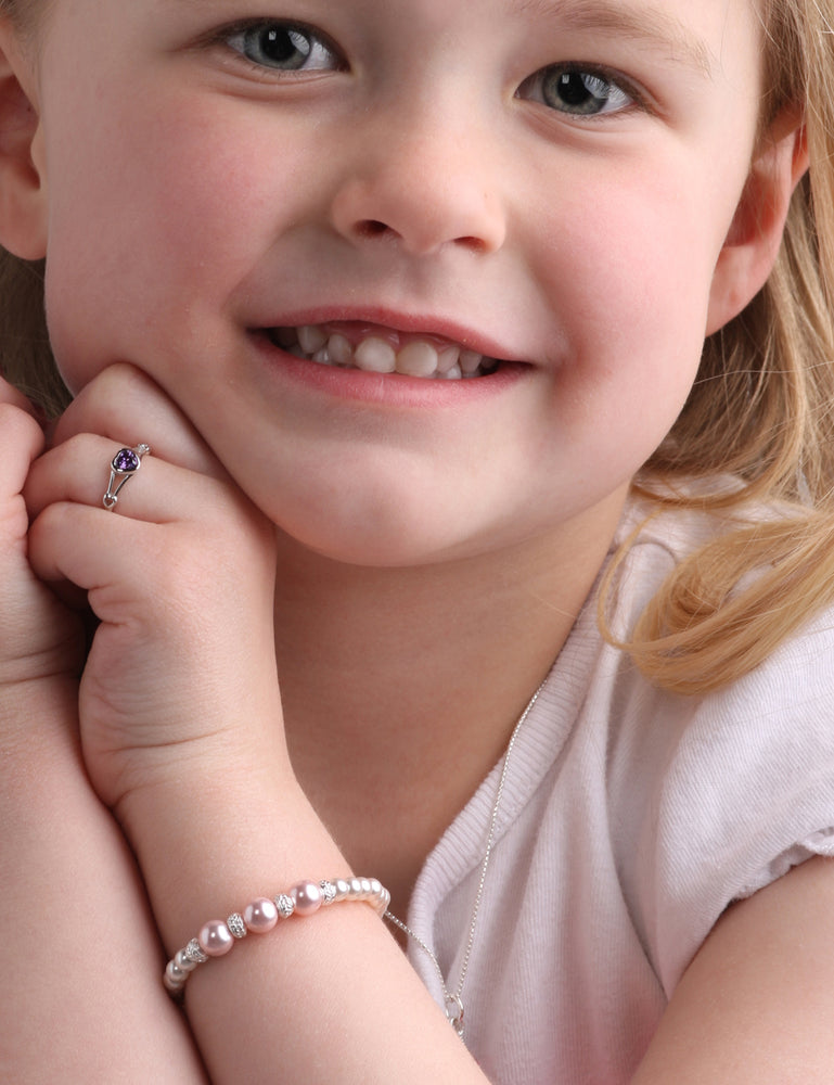 Girls first pearl bracelet