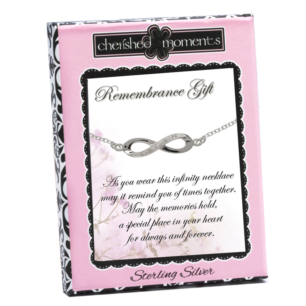 Remembrance Sympathy Gift Infinity Necklace (RGN-Infinity)