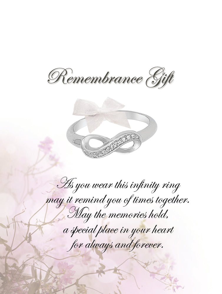 Remembrance Sympathy Gift Infinity Ring (RGR-Infinity)