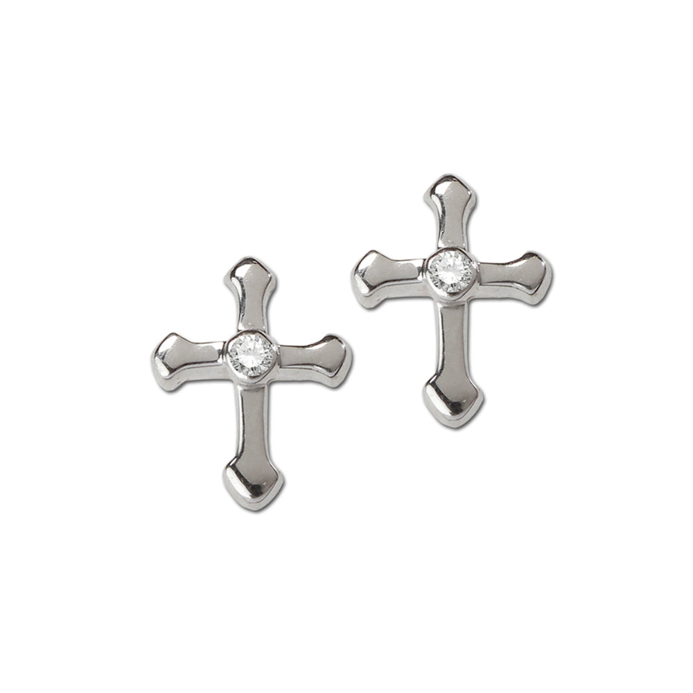 Load image into Gallery viewer, Sterling Silver Cross Earrings (SSE-Cross)