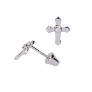 Sterling Silver Cross Earrings (SSE-Cross)
