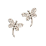 Sterling Silver Dragonfly Earrings (SSE-Dragonfly CZ)
