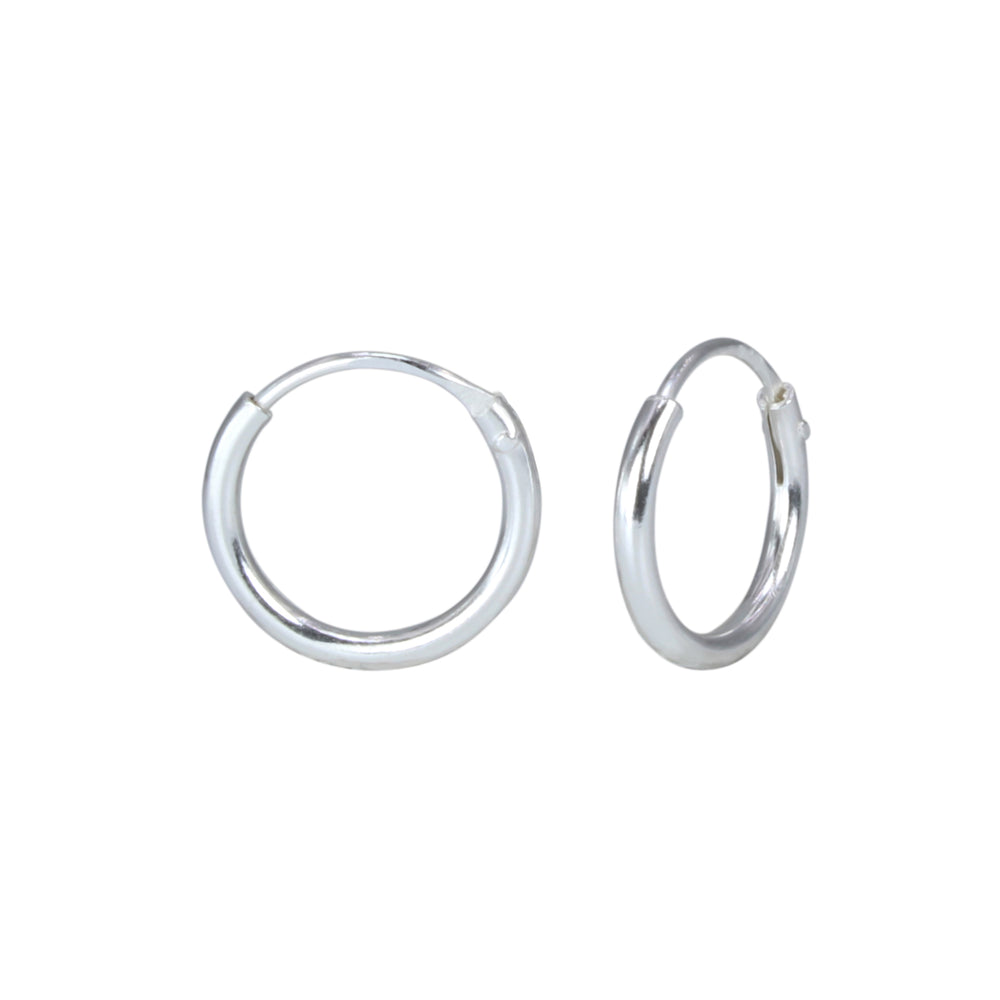 Sterling Silver Endless Hoop Earring (SSH-Hoop Endless 10mm)