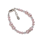 Sterling Silver Pink Pearl Bracelet for Little Girls