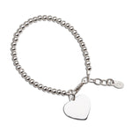 Sterling Silver Bracelet with Engraving Heart (TC-Savannah)